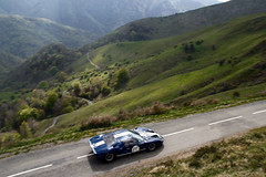Ford GT40 ([ JR ]) Tags: auto blue mountain france classic ford car montagne tour 64 exotic 40 gt rare rallye pyrnes 2011