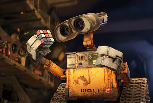 WALL-E and Rubik's Cube