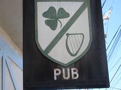should have posted this on St. Patrick's Day (Flanahan's Pub, 3805 Noriega Street at 45th Avenue) (throgers) Tags: sanfrancisco california pub guesswheresf harp clover shamrock foundinsf 45th noriega gwsf flanahans gwsflexicon