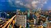 Singapore Marina Bay :: Wide! (DanielKHC) Tags: blue light tower night clouds digital marina 1 bay nikon singapore long exposure cityscape dusk fisheye explore hour cbd sands dri hdr mbs blending d300 millenia nikkor105mmf28 danielcheong danielkhc