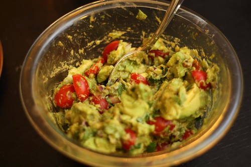 Avocado Lime Salad with Cilantro and Grape Tomatoes