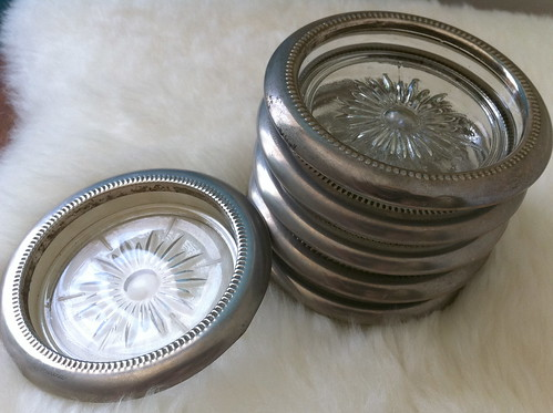 Vintage Italian Glass Coasters