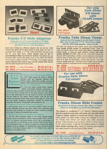 Franka 3-D slide Adapters, Twin 35mm Viewer, and 35mm Slide Frames