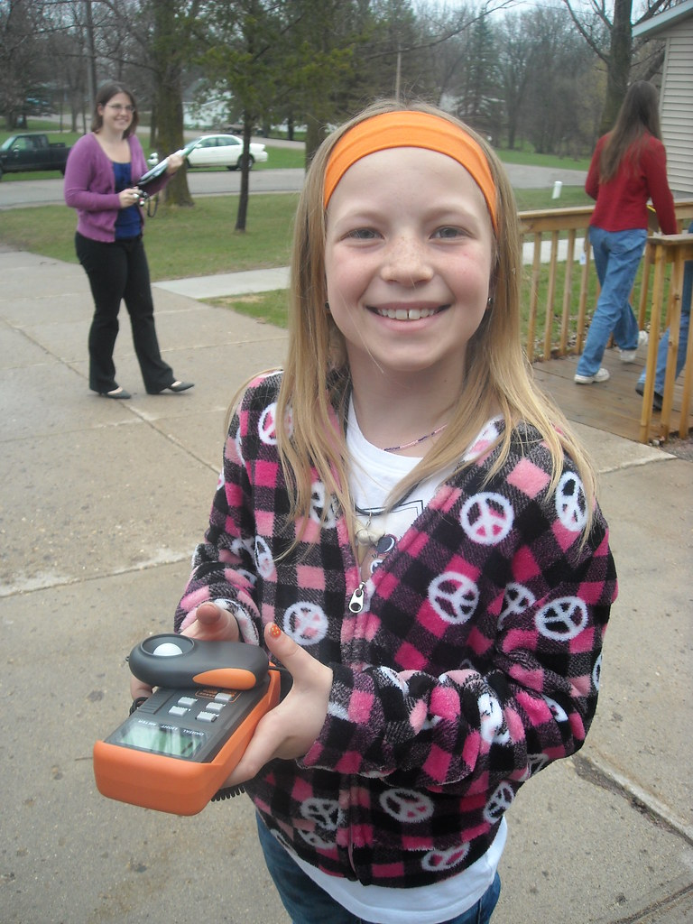 Student Using Energy Measurement Devices