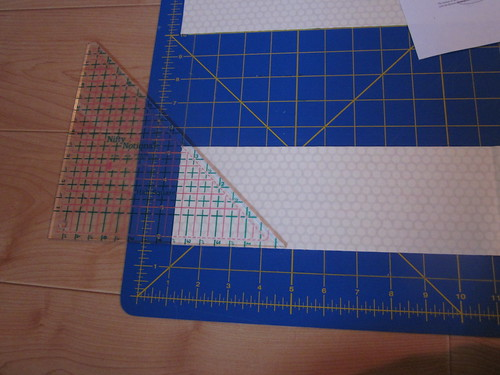 learning to use the half square ruler