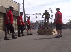 Officers box skills training