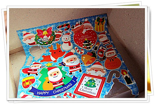 Stickers in a box