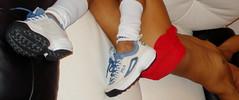 """Annie in vintage FILA """"Disruptor"""" sneakers (cyrol2010) Tags: feet fetish foot sneakers nike adidas fila reebok"""