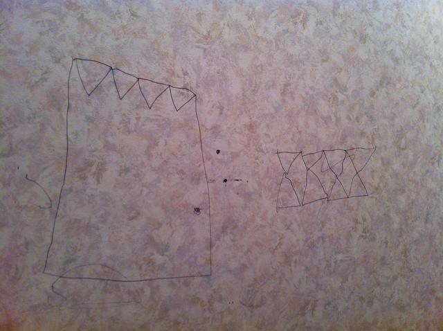 1年生にもなって壁に落書きトホホ