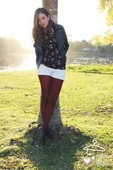 Rocker Romntico  (Maria Cabide) Tags: floral romance rocker oxford romntico renda rockgirl meiacala estampafloral lookinverno jaquetacouro oxfordboot mariacabide regatarenda lookromntico