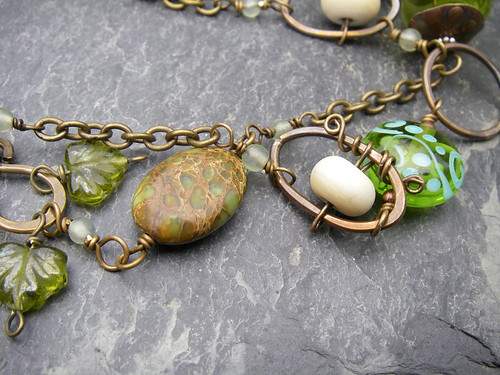 Shades of Green Necklace