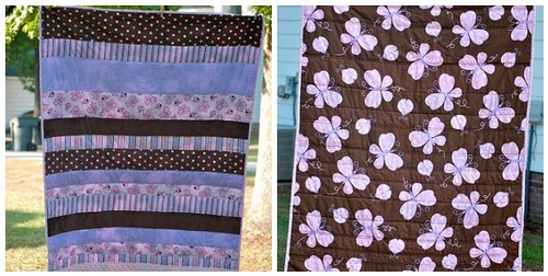 front and back of Sara's quilt
