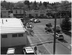 C2 - polaroid 143 (Levi Wedel) Tags: street city blackandwhite film polaroid se crash accident police 600 motorcycle instant 600se fatality 127mm fujifp100b