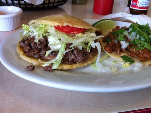 Gordita and taco