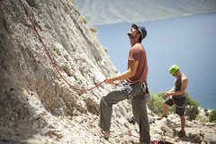 Belay is on! (Or Hiltch) Tags: island greek bodylanguage rope greece climbing odyssey rockclimbing kalymnos