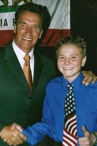 Governor Arnold Schwarzenegger and Jacob Nelson