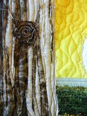Mandy's Tree (detail) commission (My Sweet Prairie - Monika Kinner) Tags: tree art stitching beading fibre elaves freemotionquilting rawedgeapplique