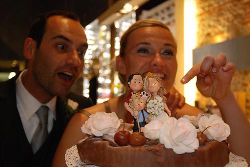 gli sposi sorpresi dal mio cake topper