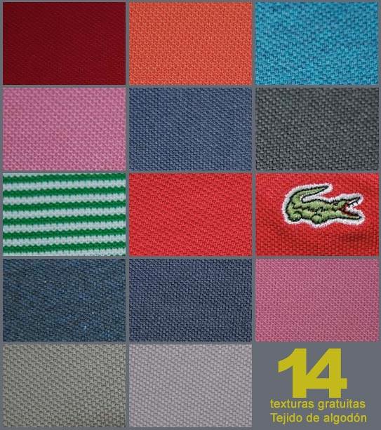 Texturas, tejido de algodón