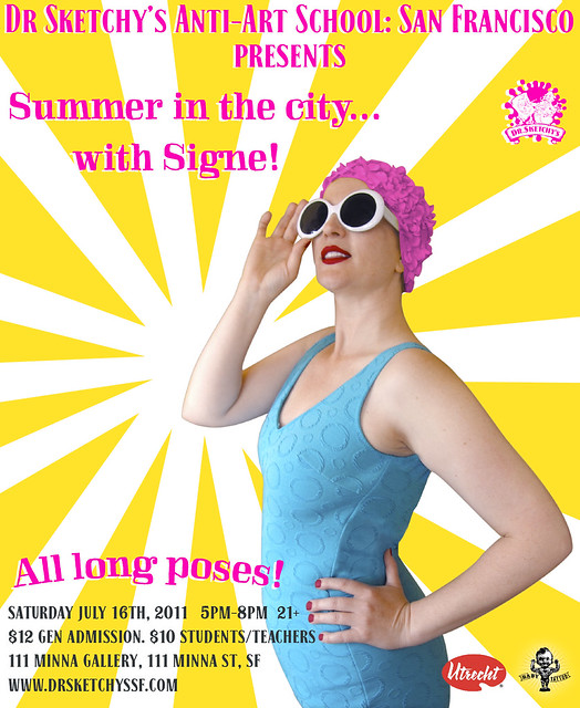 Dr Sketchy's SF presents Summer in the City with Signe