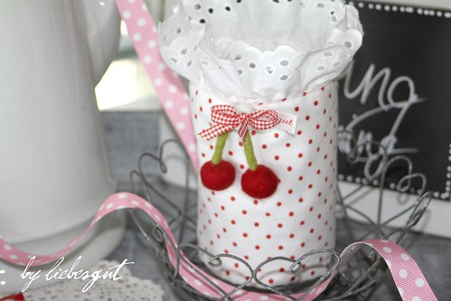 Felted cherry and dots by sewingamelie by liebesgut