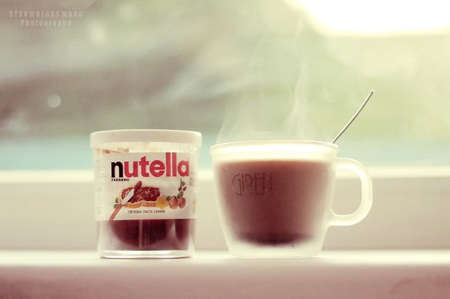 Coffee with nutella