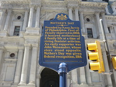 Mother's Day historical plaque in Philadelphia, Pennsylvania, USA (RYANISLAND) Tags: family holiday history philadelphia mom day families mother mothers mums celebration pa moms mum mothersday madre americanhistory motherday