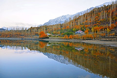 Mirror of the Nature (NotMicroButSoft (Fallen in Love with Ghizar, GB)) Tags: gilgitbaltistan nature autumn khaltyi khaltilake ghizar pakistan reflections lake