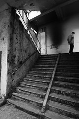 Stranger on the Stairs (.mushi_king) Tags: asia hong kong dystopia publichousing skyrise apartments flats housing highdensity concretejungle quarrybay xt2 fujiholics fujifilm