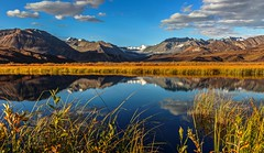 Alaskan Evening Reflections (Cole Chase Photography) Tags: reflections fall autumn mountains evening sunset tundra alaska richardsonhighway canon eos5dmarkiii