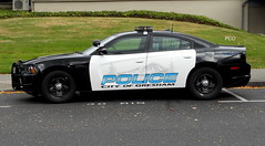 Gresham (policecarsoforegon) Tags: greshampolicedepartment dodgecharger dodge charger northwest pacificnorthwest policecarsoforegon police multnomahcounty oregon blackwhite