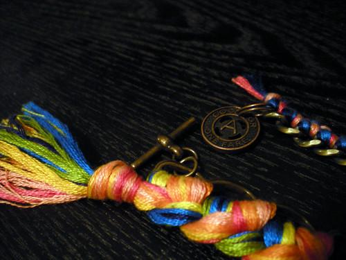 woven chain bracelets detail