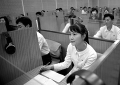 Learning english in Pyongyang - North Korea (Eric Lafforgue) Tags: students education war asia university classroom korea asie coree northkorea dprk coreadelnorte nordkorea 6550    coreadelnord   insidenorthkorea  rpdc  kimjongun coreiadonorte