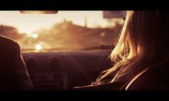 Beyond. (Stefano Santucci - www.stefanosantucci.it) Tags: street sunset woman man girl car sunrise movie drive candid 28mm cinematic