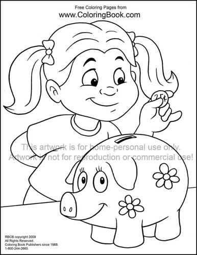 bank themed coloring pages - photo#7