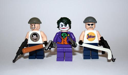 Custom minifig Joker and Henchmen