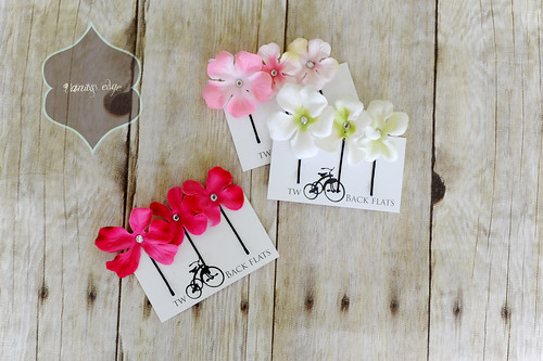 Two Back Flats Flower pins
