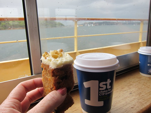 Morning tea on the ferry