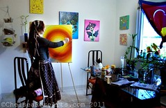 Orb work in progress (lucidRose) Tags: art paint workinprogress goddess orb acrylicpainting homestudio chelsearosearts