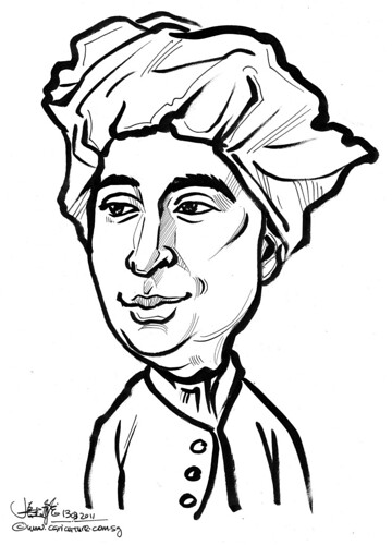 caricature of David Hume
