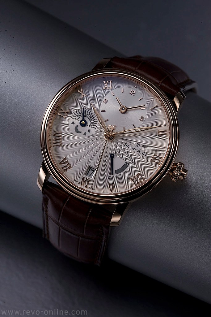 Blancpain Villeret Half Time Zone in rose gold