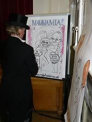 Caricaturist Helen Pointer