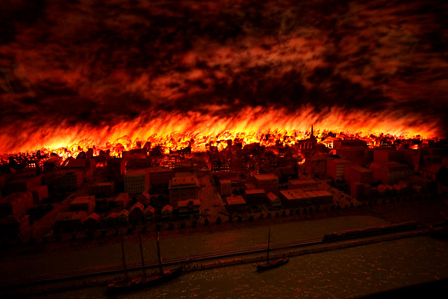 Chicago History Fire Diorama
