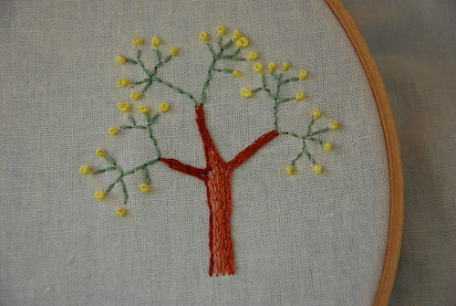 Spring Tree Embroidery