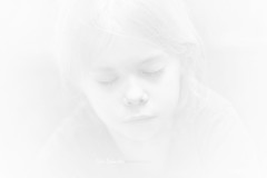 Cloud of milk (cliccath) Tags: portrait bw cloud milk child noiretblanc dream lait nuage enfant lili rve canoneos5dmarkii canonef100mmf28macrousmlens cliccath cathschneider