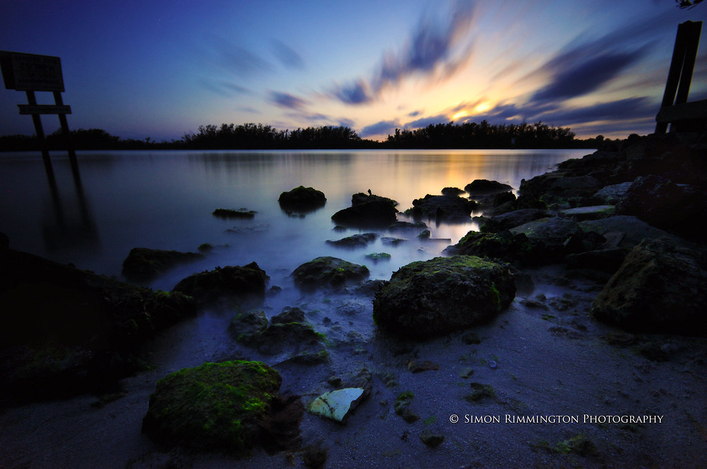 "Sunset over Rocks with Lee ""Big Stopper"" 10 Stop ND Filter"