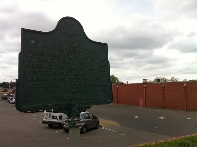 Bettis Family Cemetery marker, Memphis, Tenn.
