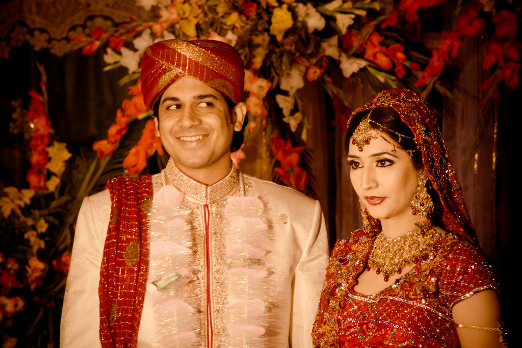 Married Couple Umbreen Hafeez Tags Wedding Pakistan Red Groom Bride Asia Marriage
