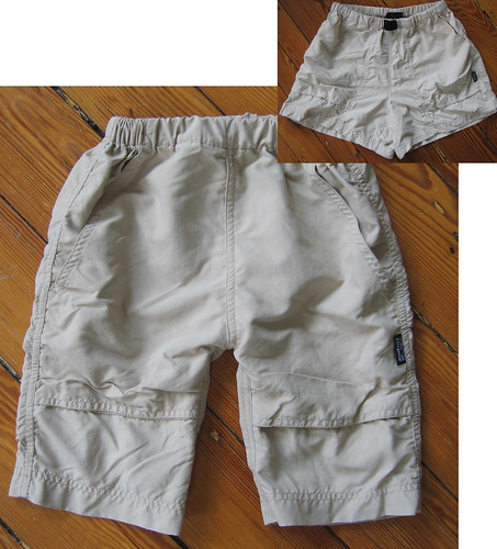 Toddler mid-calf pants from women's shorts