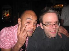John and Chris (hatapota) Tags: leavingdrinks chrispaton craichouse ncvoit